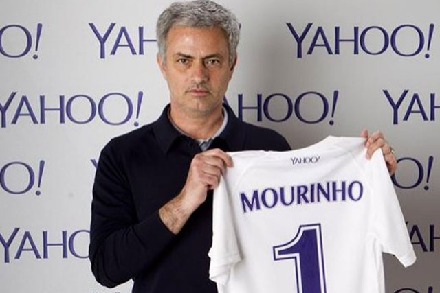 Jose Mourinho: signs for Yahoo as global football ambassador