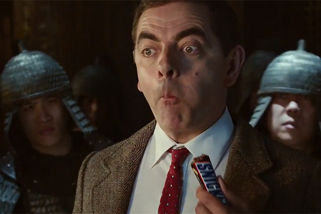 Snickers: Rowan Atkinson reprises his Mr Bean character in martial arts spoof