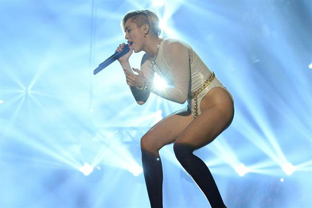 Miley Cyrus: performing at the MTV EMA in Amsterdam last year