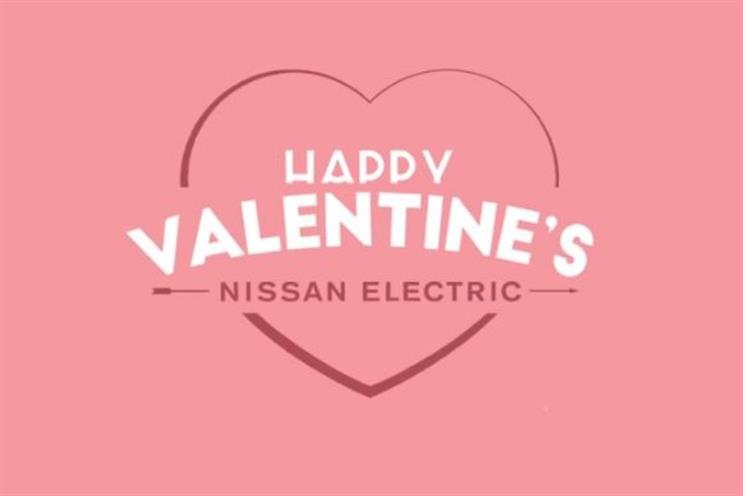 Nissan has created a campaign for Valentine's Day for its Leap car