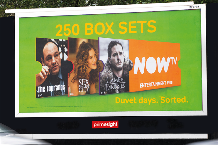 Now TV achieved the highest recall for all measured national out of home campaigns