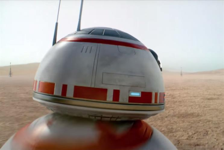 Star Wars: new droid BB8 stars in O2 Priority's ad