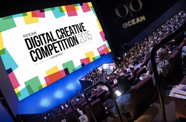 Ocean's digital creative competition: celebrates pushing creative boundaries in digital out-of-home