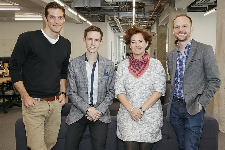 Ogilvy Pride: (from left) Alex Canthal, Michael Breen, Annette King, and Sam Pierce