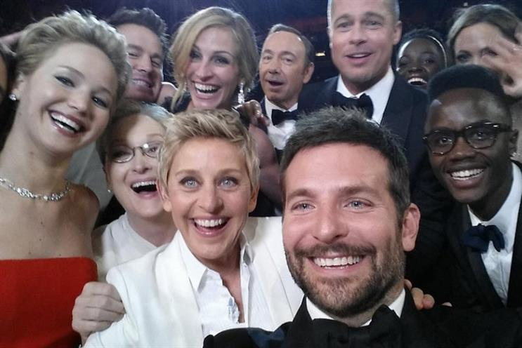 The Oscar selfie twetted by Ellen DeGeneres was the most retweeted in Twitter's history