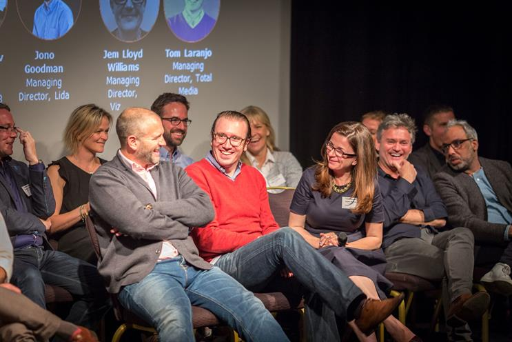 Oystercatchers Club: ad agency bosses took part in the debate, such as Iris' Ian Millner (front row, left) and Total Media's Tom Laranjo (centre)