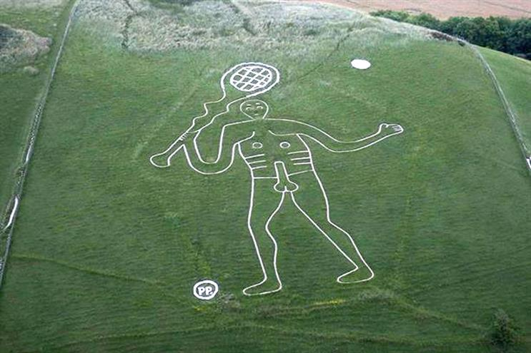 Paddy Power: updates the Cerne Abbas Giant in honour of Andy Murray