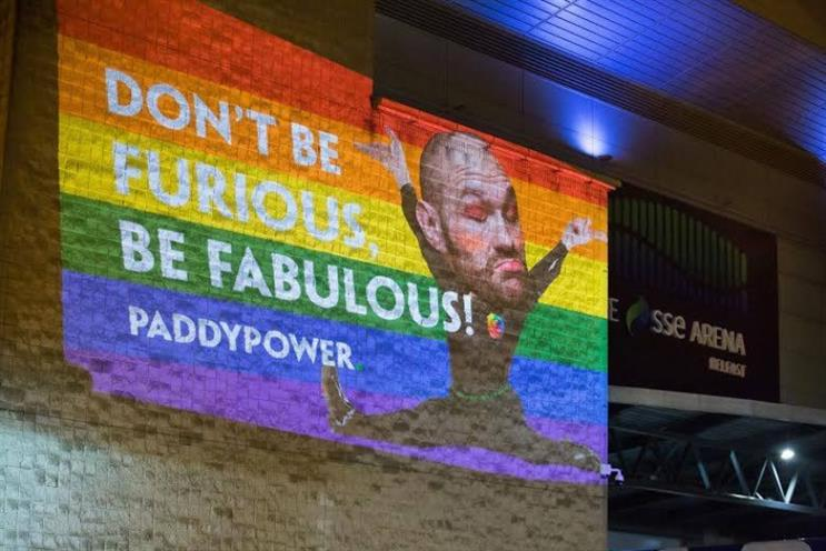 Paddy Power: goading boxer Tyson Fury after his allegedly homophobic and sexist comments