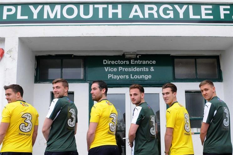 Three: sponsoring Plymouth Argyle away game fans