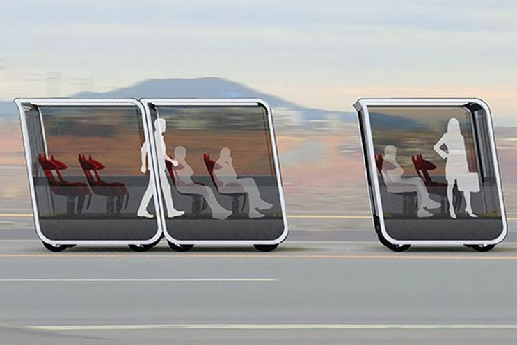 Concept design for TDG's self-driving pods