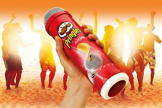 Pringles: it has pranked people in Ibiza whilst enjoying karaoke