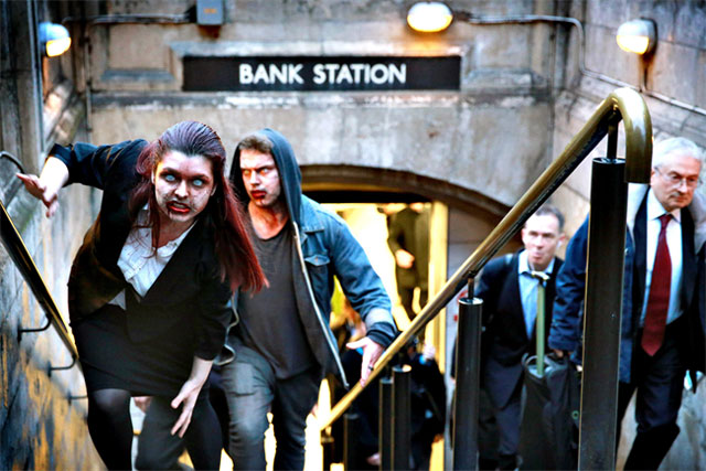 RateSetter: online campaign featured people dressed as zombies roaming the City of London.