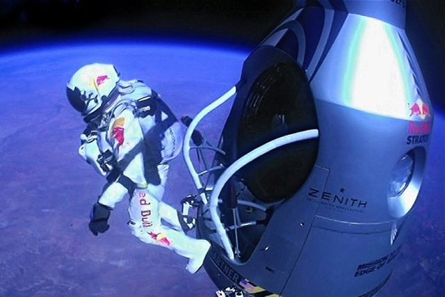 Felix Baumgartner: takes the Red Bull space jump