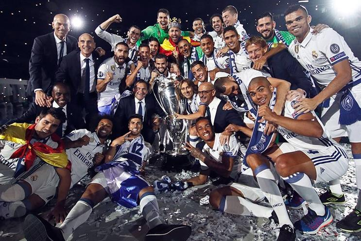 Real Madrid: won the Champions League again last weekend