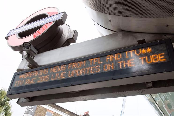 TfL: 180 stations will see Rugby World Cup information streamed at entrances and platforms