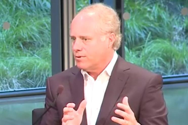 Vogue: Sauerberg was praised by Chuck Townsend for 'leading the company into the digital future' (YouTube/Gigaom)