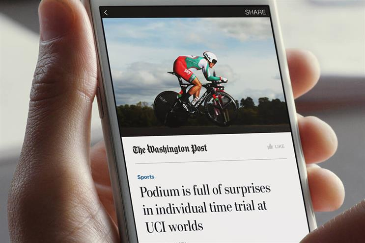The subscription model is based on Facebook's Instant Articles