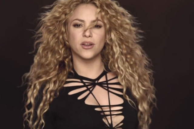 Shakira: tops the World Cup poll with 'la la la' for Activia