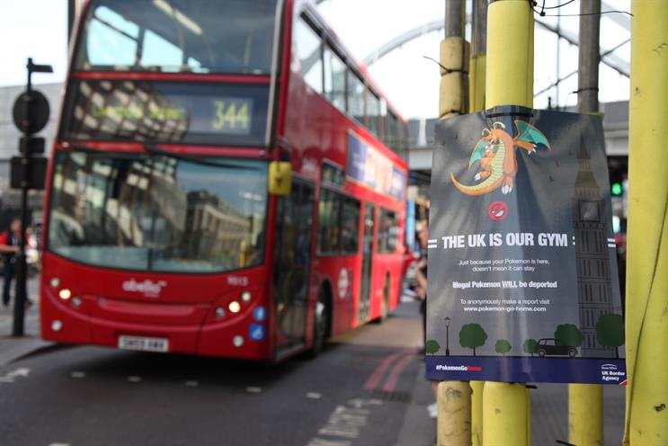 A poster in Shoreditch High Street, East London