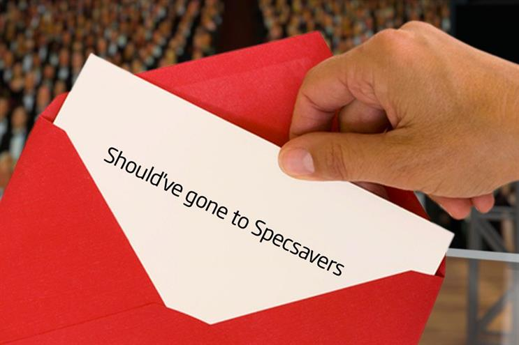 Specsavers: quick off the mark with their Oscars tweet