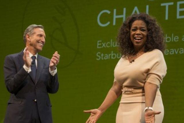 Teavana launch: Oprah Winfrey joins Starbucks chief Howard Schultz