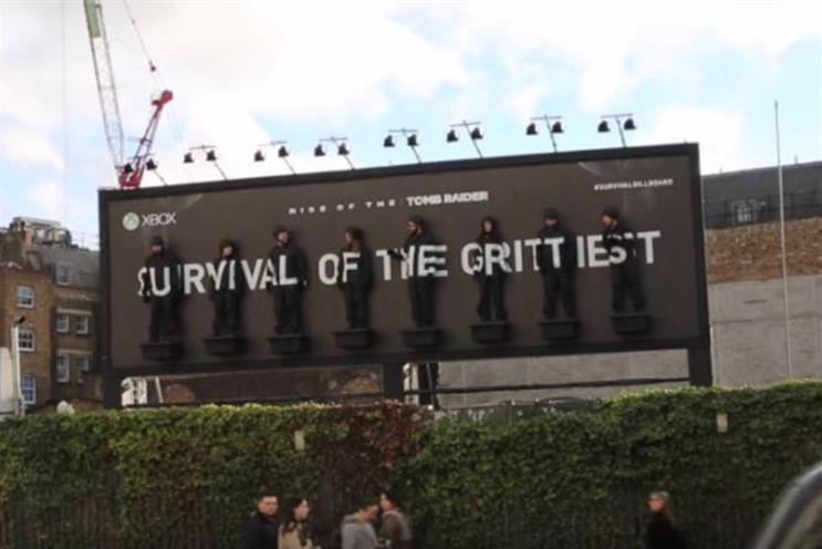 Xbox turns a billboard into an endurance test for Tomb Raider launch