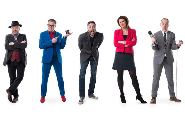 TalkRadio (L-R): Galloway, Ross, Lee, Hartley-Brewer and Delaney
