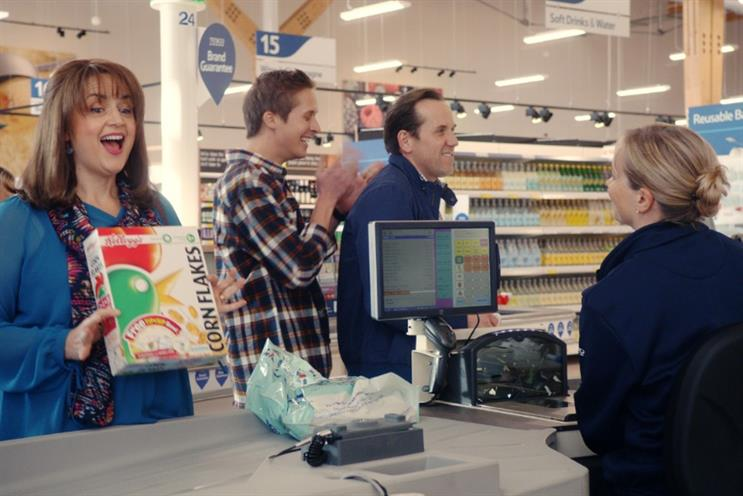 Tesco has unveiled a major brand campaign featuring a modern family played by Ruth Jones and Ben Miller