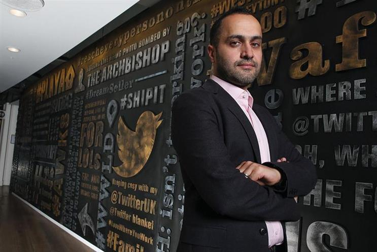 Dara Nasr: said many advertisers were putting Twitter at the heart of their media plan