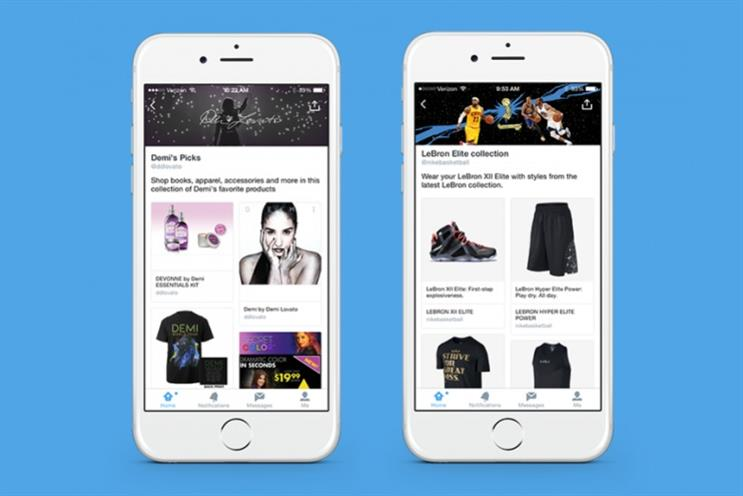 Twitter shopping: brands can create 'collections' of products