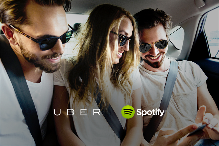 Uber: offering a highly personalised experience, like picking Spotify tunes