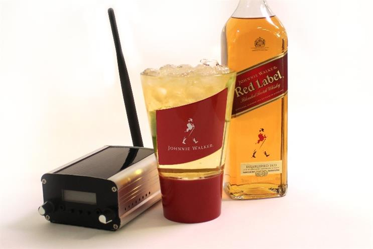 Johnnie Walker: hi-tech glass delivers sound to the inner ear when it connects with teeth