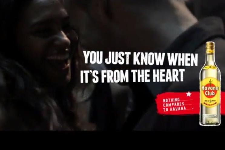 Havana Club: set to roll out international TV campaign