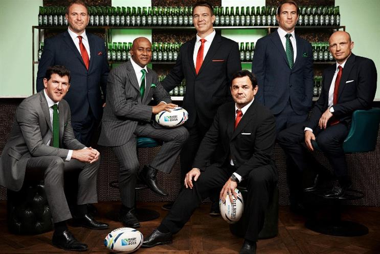 Heineken: Rugby World Cup campaign to feature famous sport legends