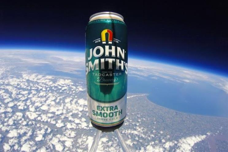 John Smith's: Giving a way a batch of ale that has travelled to space