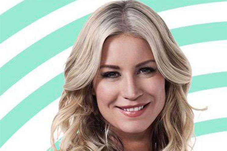 Denise van Outen: Post Office will sponsor her Saturday show on Magic Radio