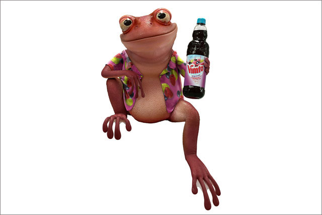 New Vimtoad character created by Aardman Animations