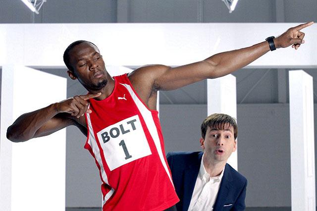 Virgin Media: brand ambassadors Usain Bolt and  David Tennant