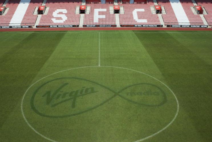 Virgin Media: taking over Veho as Southampton FC's main sponsor