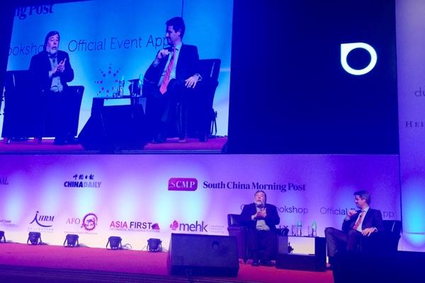 Steve Wozniak (left): speaks at the World Business Forum