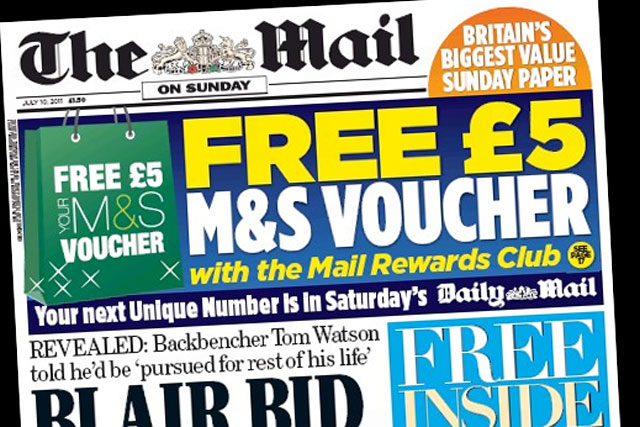 Mail on Sunday: targets former NotW readers