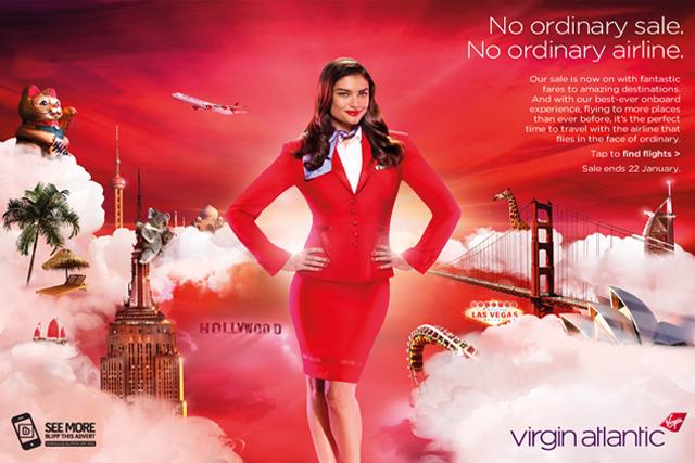Virgin Atlantic: teams up with TMG to create BlippAR ad