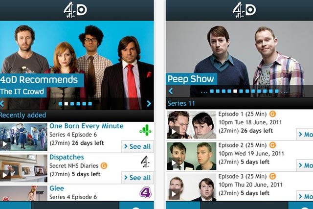 Channel 4: 4oD app is now available via iPhone