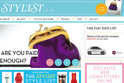 Stylist.co.uk: offers content that is updated daily