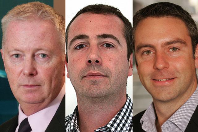 Chris Locke, Luke Duffy and Paul Rowlinson