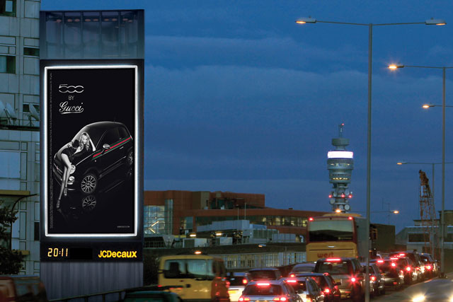 JCDecaux: Marylebone Tower with debut Fiat 500byGucci ad