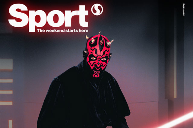 Sport magazine: partnering with 20th Century Fox for Star Wars promotion