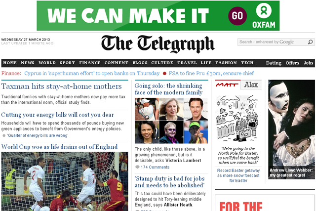 Telegraph: launches paywall