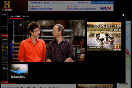 History Channel: revamped websites are offering new video service