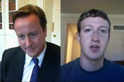 Prime Minister David Cameron and Mark Zuckerberg